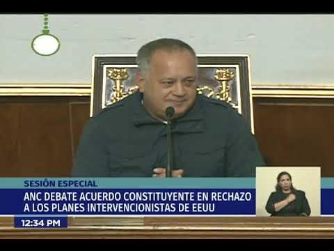 Intervención de Diosdado Cabello este 18 diciembre 2018 en la ANC
