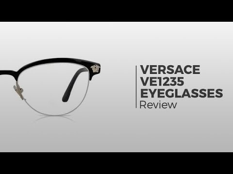 a6d7d978d614 Versace VE1235 Eyeglasses | Flash Preview - YouTube