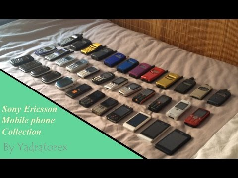 Sony Ericsson cell phone collection. From 1999 to 2014