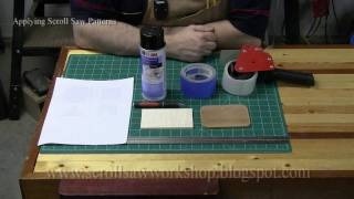 Applying Scroll Saw Patterns