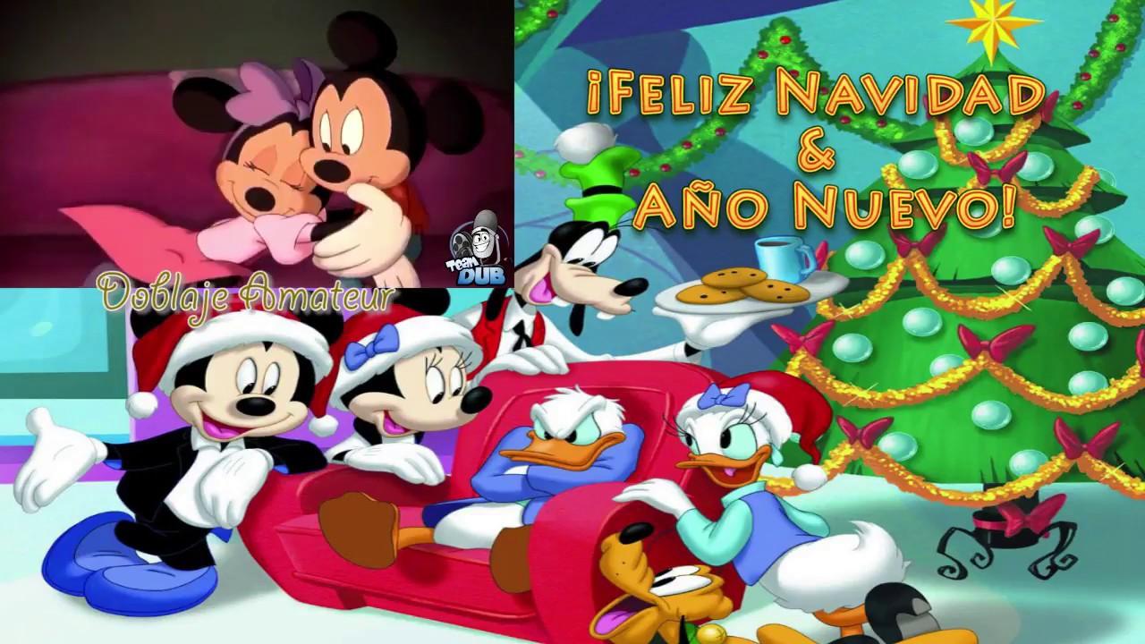 Felicitaciones De Navidad De Disney.Mickey Minnie Mouse Feliz Navidad Ano Nuevo