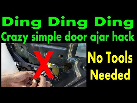 2003 Ford Expedition Door Ajar Ding Easy Simple Fix With No Tools Youtube