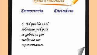Diferencias entre Democracia y Dictadura para escolares