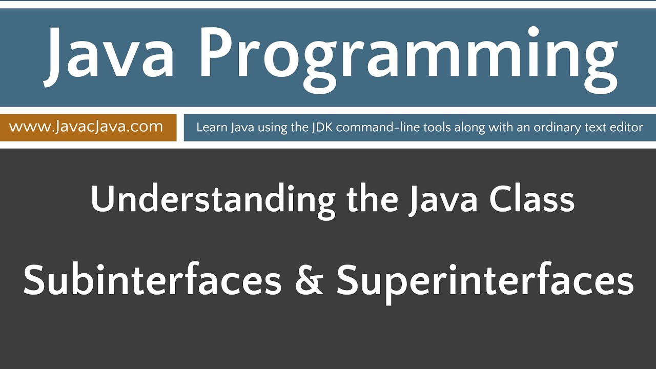 Learn java programming subinterfaces and superinterfaces learn java programming subinterfaces and superinterfaces tutorial java 8 baditri Gallery