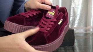 "Unboxing: Puma x Rihanna Fenty Creepers Velvet ""Royal Purple"" Review From Pickyourkicks.ru"