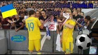 Открытая Тренеровка Сборной Украины по Футболу