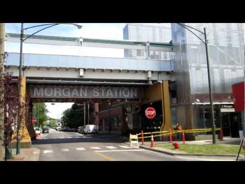 New CTA Green Line Station at Morgan Street