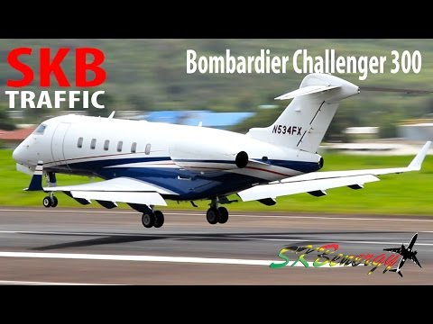 Private Bombardier Challenger 300 making its way into St. Kitts R.L.B Int'l Airport