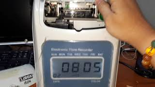 Punch Card Machine Set Time & Date / Masa dan Tarikh   I52N