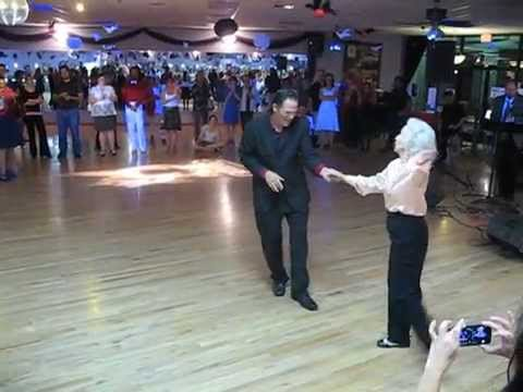 90 Year Old Woman Walks Onto The Dance Floor But No One