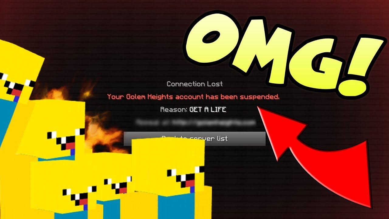 I Got Banned Roblox Minecraft Skin Troll Youtube