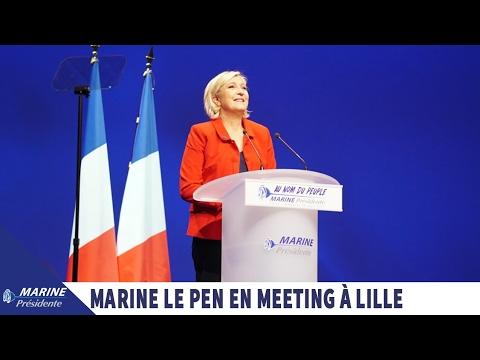 Marine Le Pen en direct du meeting de Lille (26/03/2017)