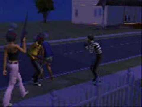 How To Kill The Burgler On The Sims 2 (Gun Mod) (Short)