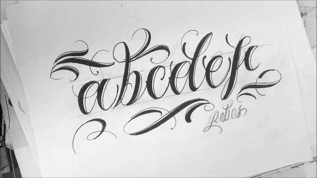 Abecedario en lettering