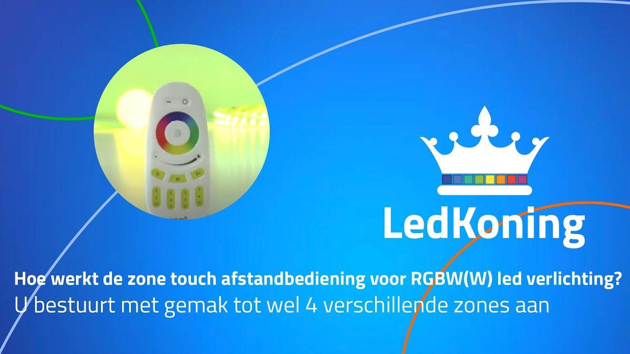 hoe werkt de 4 zone touch afstandsbediening voor rgbw led verlichting