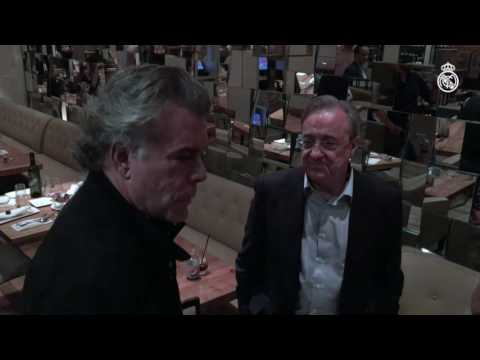 Actor Ray Liotta pays Florentino Pérez a visit at the team's New York hotel