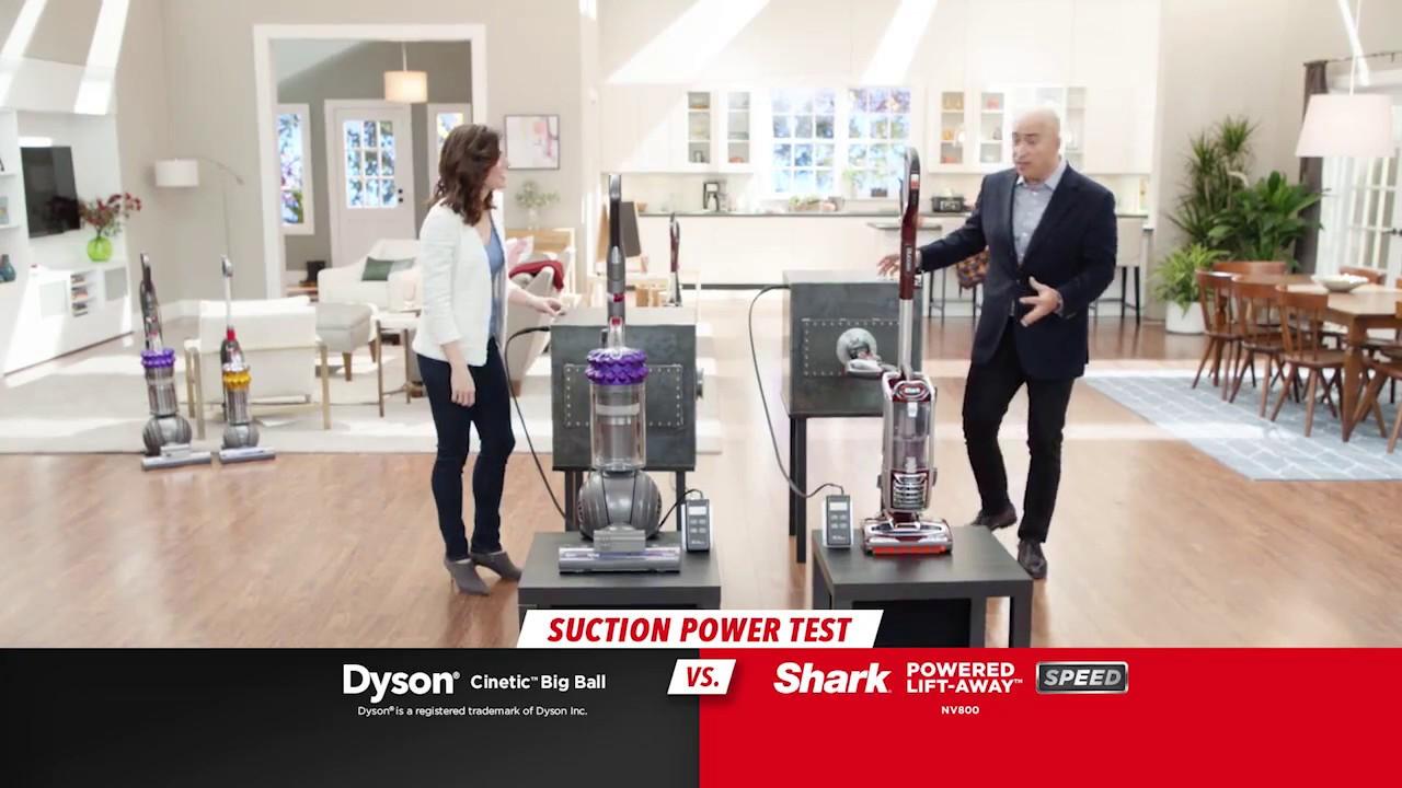 shark duoclean powered liftaway speed vs dyson cinetic big ball
