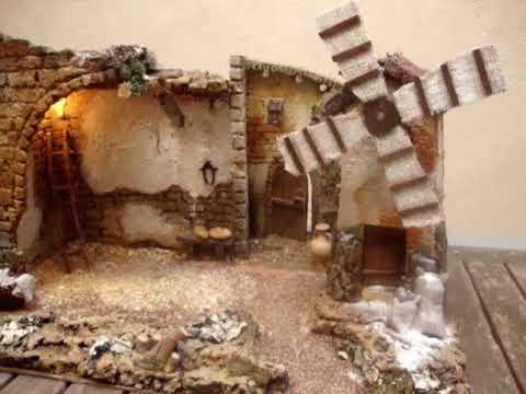 1109 pesebre con molino para figuras de 12 15 cm youtube - Cosas de navidad para hacer en casa ...