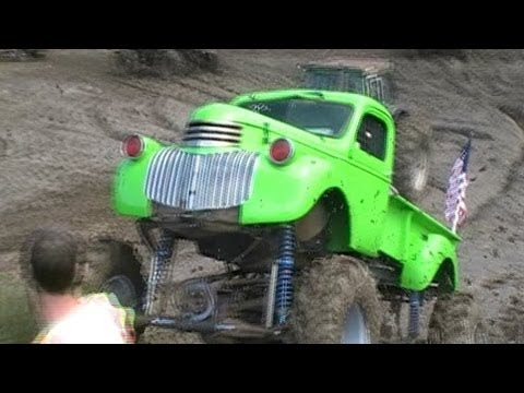 BAD ASS MONSTER Mud Truck 1941 Chevy 911 Mud Run Bog & ...