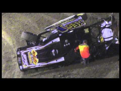 USMTS @ Batesville Motor Speedway  Heat #3 crash 8 2 13  KEG1 Jeremy Russell
