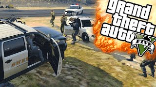 GEVANGENIS CHAOS - GTA 5 Online Funny Moments