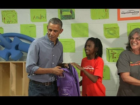 Girl tells Barack Obama she wanted to meet Beyonce instead