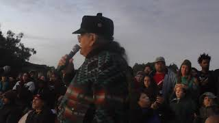 Bill Means honors Dennis Banks in Alcatraz Island Address