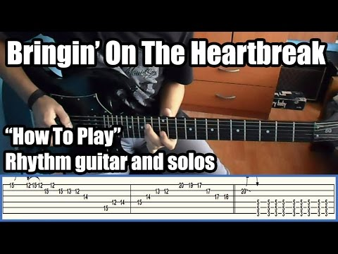 Def Leppard Bringin' On The Heartbreak lesson with tabs HD
