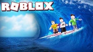 SURFING ON A GIANT ROBLOX TIDAL WAVE!