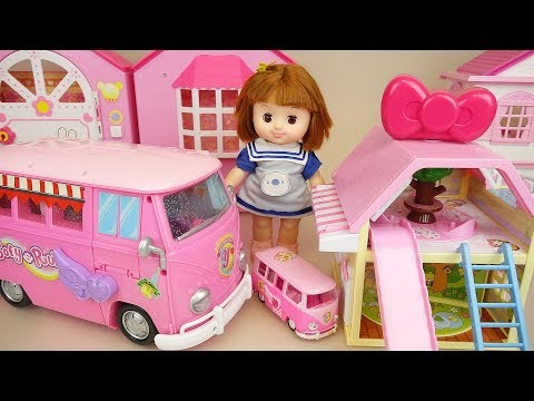 Baby doll camping car and house baby Doli camping play