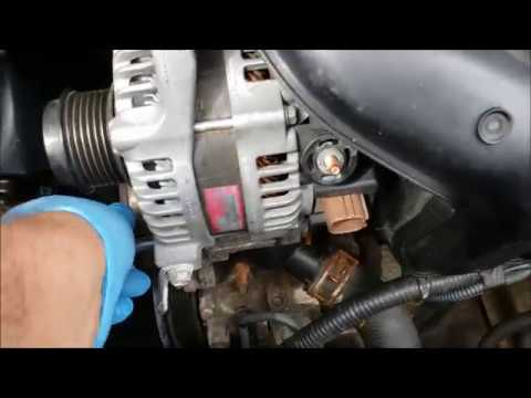 How Replace Alternator Toyota Corolla 2009 2010 2017 Part 2 Of
