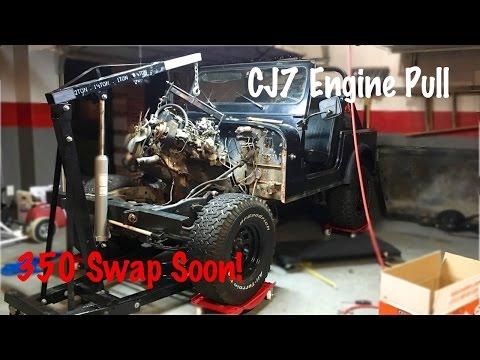 Engine and Drivetrain Removal | Jeep CJ7 Build Part 2