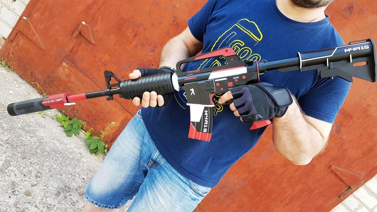 Как сделать M4A1-S   Cyrex из CS:GO своими руками DIY