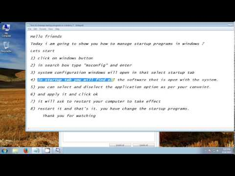 How To Manage Startup Programs In Windows 7