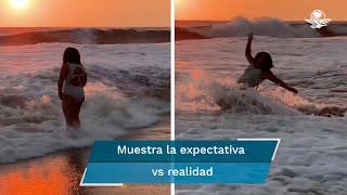 La hija de Manuel y Lucero no deja de sorprender y ahora lo hizo, pero en el mar