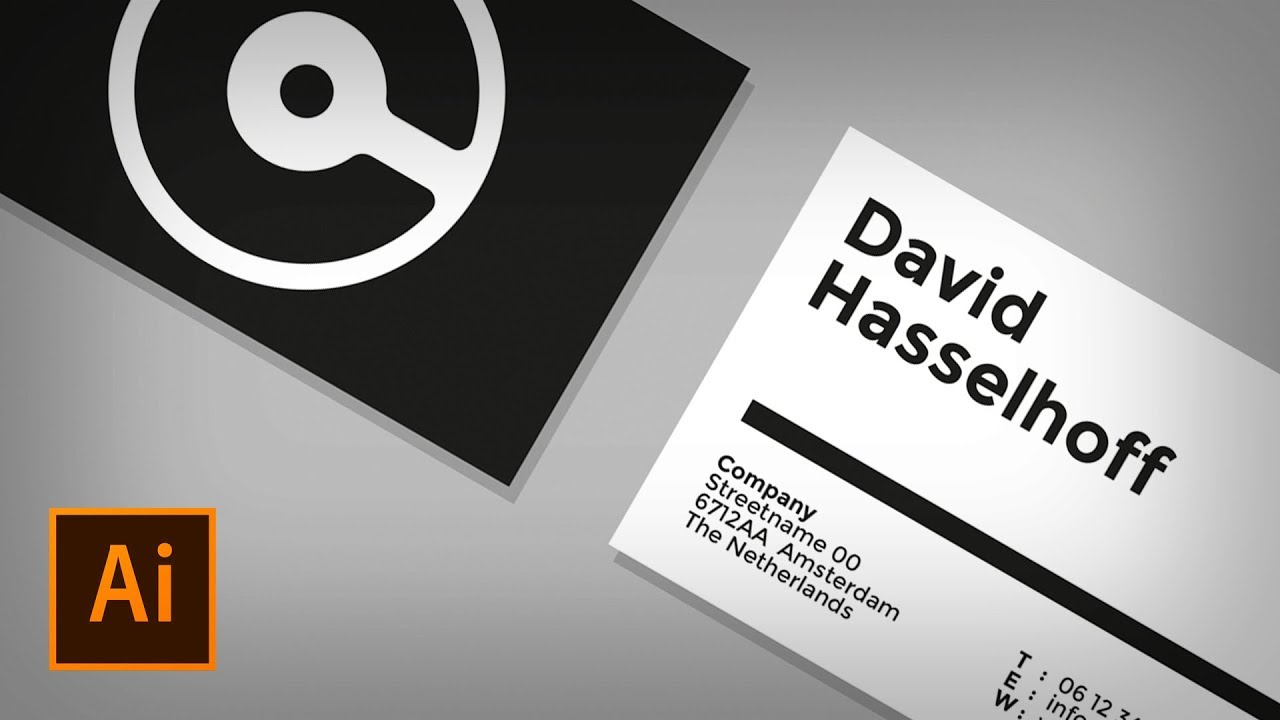 how to create a business card in illustrator