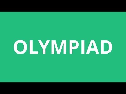How To Pronounce Olympiad - Pronunciation Academy