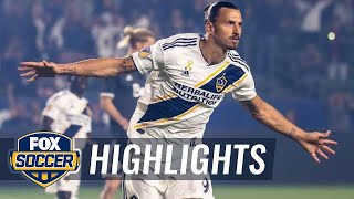 Zlatan Ibrahimovic's two goals keep LA Galaxy in the playoff hunt | 2018 MLS Highlights
