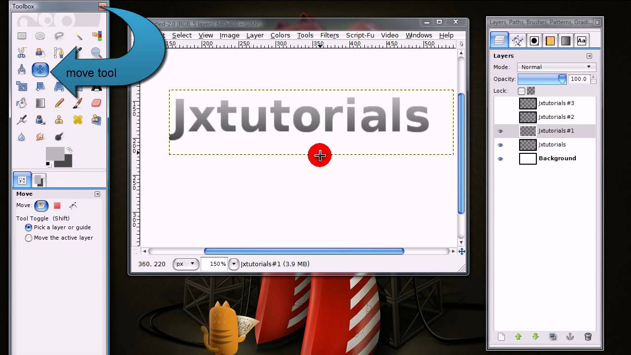 how to create outlined text in gimp