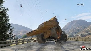 GTA 5 100 tons Super Dump Truck Rampage HD Grand Theft Auto 5