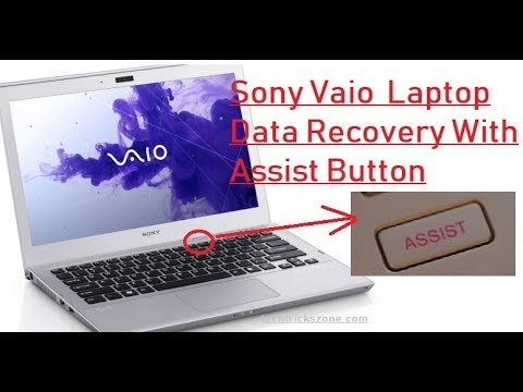 Sony Vaio Latitude E Series Data Recovery With Assist Button