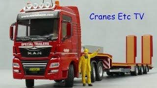 Conrad MAN TGX + Nooteboom MCOS Semi Low Loader by Cranes Etc TV