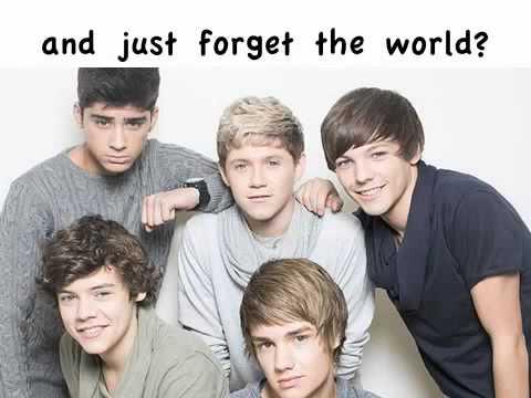 One Direction  Chasing Cars Lyrics   Pics
