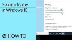 How to Fix a Dim Display on HP Laptops with Windows 10 | HP Computers | HP