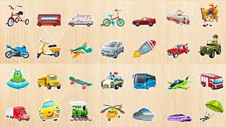Car & Vehicles & Many Things Puzzle for Kids