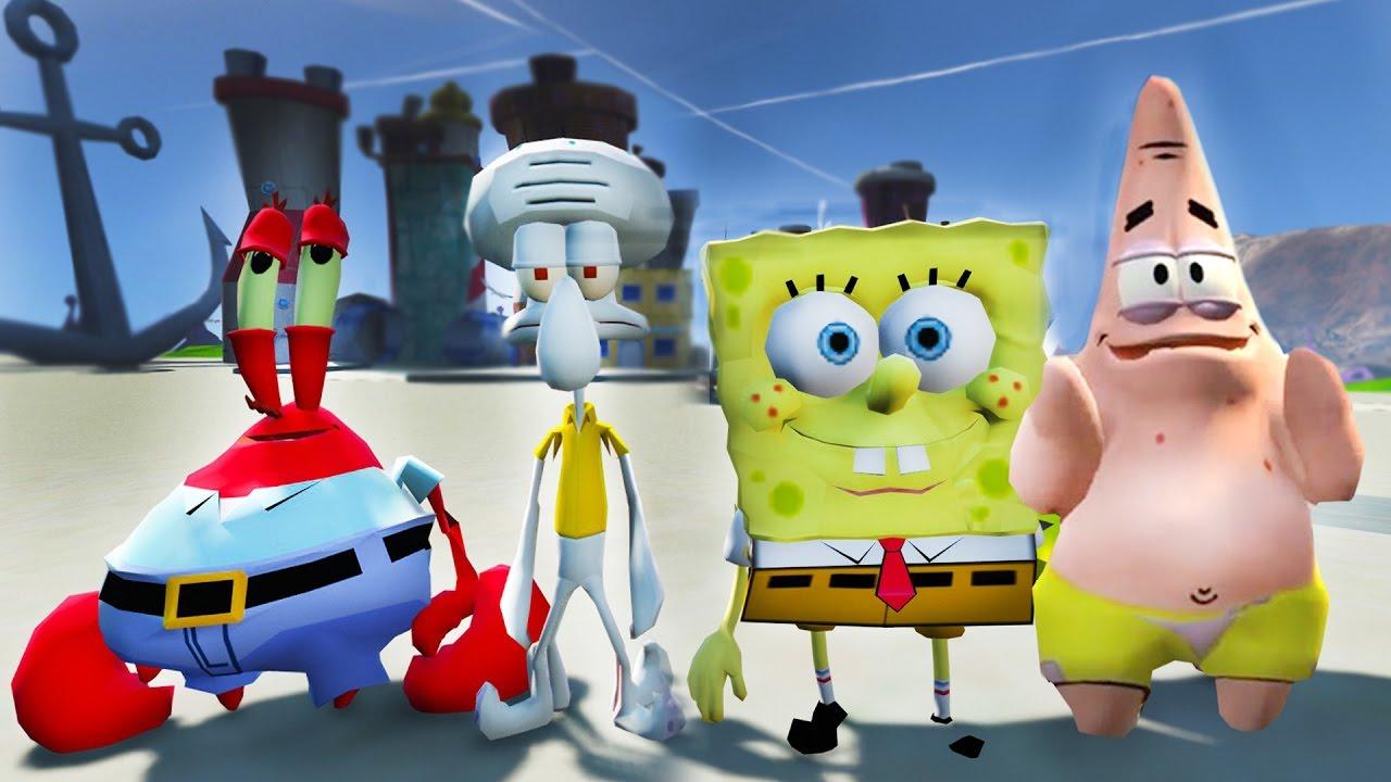bikini bottom found in gta 5 spongebob patrick mrkrabs