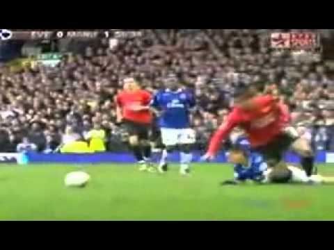 Phil Neville Solid Tackle on Cristiano Ronaldo