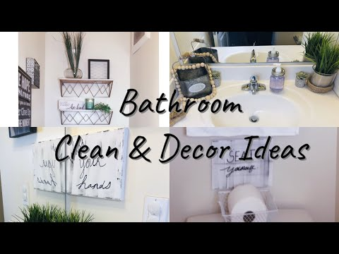 Bathroom Clean & Decor Ideas DIY- Home Decor