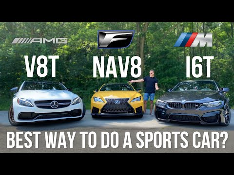 BMW M4 Competition vs Mercedes-AMG C63S vs Lexus RCF - Different Approaches, Same Results?
