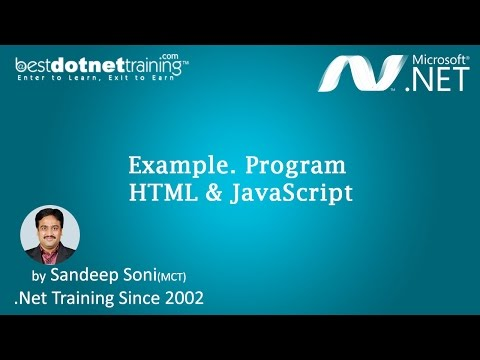 HTML and JavaScript using ASP.Net  | ASP.Net Videos Tutorial for Beginners